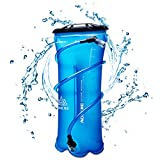 TRIWONDER TPU Bolsa de Agua Soft Flask 1.5-2-3L Vejiga de Hidratación Deportivas sin BPA a Prueba de Fugas Ideal para Mochila de Hidratación para Correr Ciclismo Senderismo (3L (TPU))