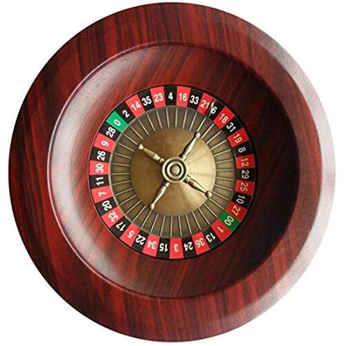 LHSY Holz-Roulette-Party Roulette Unterhaltung und Freizeit Roulette Family Table Spiel Drehscheibe 12 Inches,as Shown-One Size