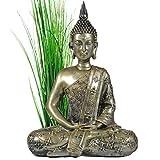 INtrenDU Bouddha Statuette Chinois 40cm décoration Zen pour intérieur Feng Shui