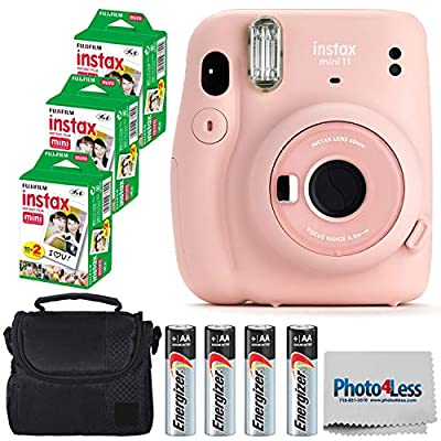 Fujifilm Instax Mini 11 Instant Camera + 3 Packs Fujifilm Instax Mini Twin Pack Instant Film (60 Sheets) + Batteries + Case - Top Value Bundle by FUJIFILM