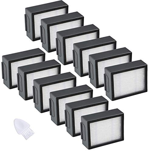 JoyBros - Juego de 12 filtros de Alta eficiencia de Repuesto compatibles con aspiradora Roomba i e Series: i7 i7+/ Plus E5 E6 E7