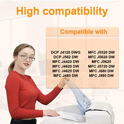 D&C 20er Set Cartuchos de tinta de impresora para Brother LC-221,LC-223,para Brother DCP-J4120DW,DCP-J562DW,MFC-J4420DW,MFC-J4620DW,MFC-J4625DW,MFC-J480DW,MFC-J5320DW,MFC-J5620DW,MFC-J5625,MFC-J5720DW