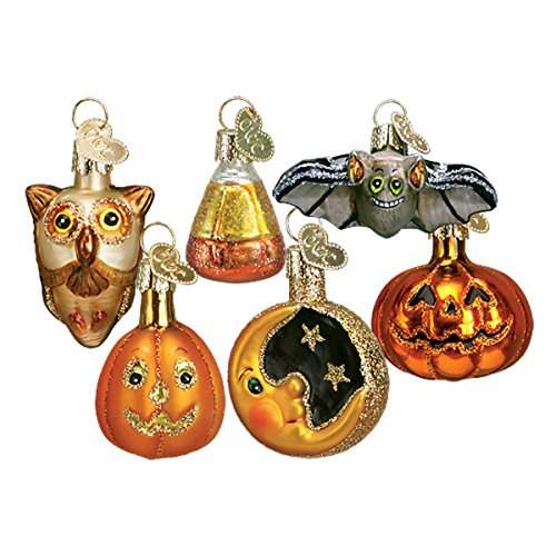 Old World Christmas Ornaments: Halloween Decorations Glass Blown Ornaments for Christmas Tree, Miniature Halloween