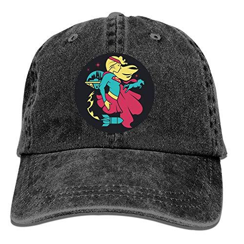 Gorra de béisbol LUXNG con elevación de pizza para todo el día para hombres y mujeres, gorras de béisbol deportivas Supergirl Dc Superhero Profiles 6 Taille unique