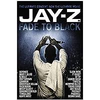 Suuyar フェイドトゥブラックジェイ-Zラッパースターラップミュージックヒップホップ映画ウォールアートポスターとプリントリビングルームのキャンバスに印刷-24X32インチX1フレームレス
