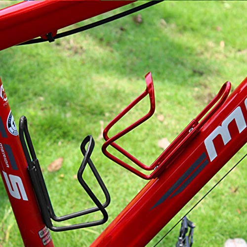 Ultra Lightweight Aluminum Alloy Bicycle Water Bottle Holder Cage MTB Road Bike Drink Bottles Mount Rack Cycling Accessories BCVBFGCXVB(red)