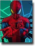 Toile murale Abstrait Contemporain Incroyable Spider Man Poster Moderne Décoration de Maison 24 x 36 cm