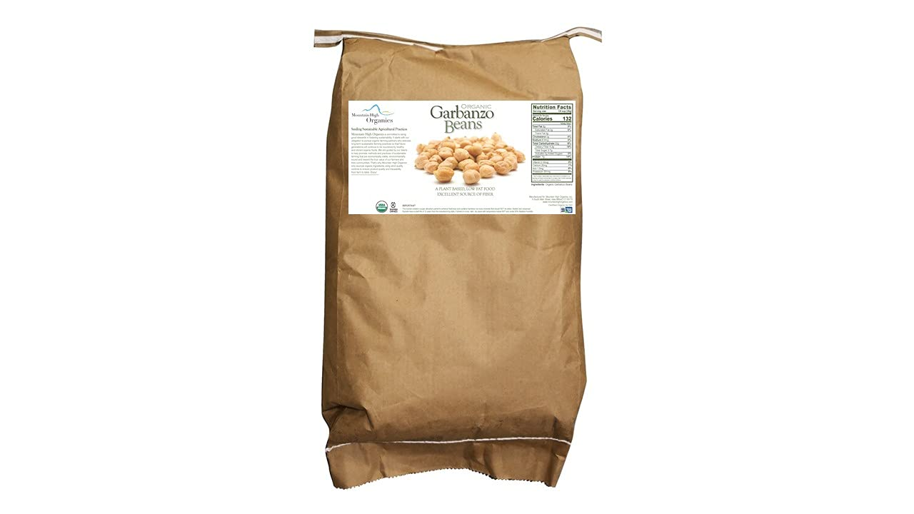 Mountain High Organics Organic Selling and Boston Mall selling Non-GMO Garbanzo Lb 25 Beans Bag