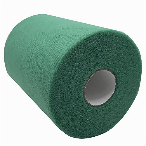 Carrete de tela de tul de 15,2 cm x 91,4 m, 59, colores disponibles, para caminos de mesa, sillas, lazos, faldas, costura, manualidades, tela para boda, fiesta, regalos. olive-drab