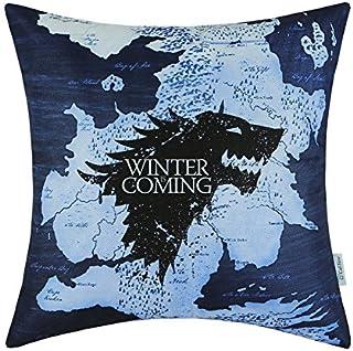 artoutletmf a casas de juego de tronos Stark Winter Is Coming Funda de almohada cojín casa sofá Decorativ 18x 18pulgadas