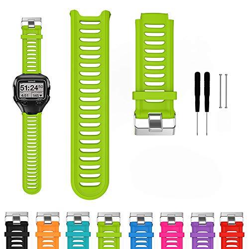 iFeeker Zubehör Metall Gürtelschnalle Verstellbares Armband Weiches Silikon Ersatz Handgelenk Armband für GarminGarmin Forerunner 910XT Smart Watch