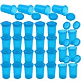 Owevvin 30 Pieces 19-Dram Empty Pill Vial Bottles, Plastic Medicine Containers Prescription Vials for Pharmacy, Drug, Tablet