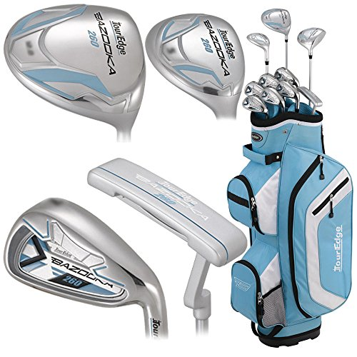 Tour Edge Bazooka 260 Women's Box Set, Right Hand, Blue/White