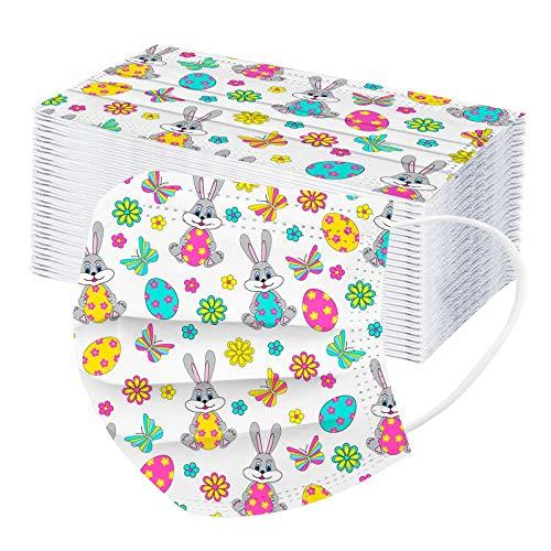 RUITOTP 10/50/100 pc Unisex Erwachsene Ostern Kaninchen Print Schal - Mode Universal Soft 3 n niedlichen Schal für Outdoor-Schule täglich-210123-17