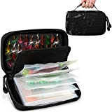 Rodeel Fishing Tackle Binder,Sea Fishing Organized Storage Rig Bag for Baits,Rigs,Jigs and...