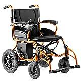 KAD Silla de ruedas con motor eléctrico Ligero 26Kg Scooter de movilidad portátil plegable resistente, silla de ruedas motorizada, ancho del asiento 44 cm Cómodo