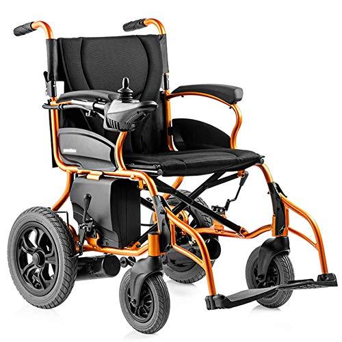 WLG Silla de Ruedas con Motor eléctrico Ligero 26Kg Scooter de Movilidad portátil Plegable Resistente, Silla de rued
