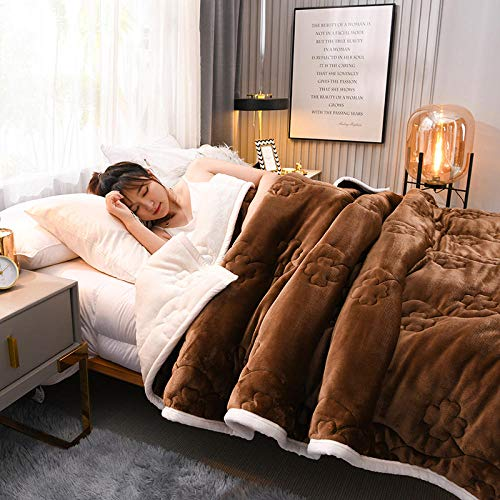 FRTU Heavy Blanket for Sleep and Stress Relief,Blankets, leisure blankets, three-layer thick flannel blankets, lunch break blankets, Raschel blankets-A08_150x200cm