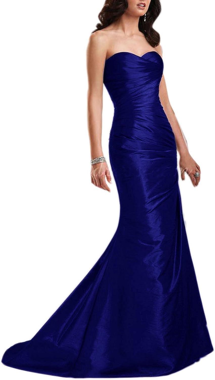 Ikerenwedding Women's Sweetheart Laceup Mermaid Bridesmaid Dress Evening Gown
