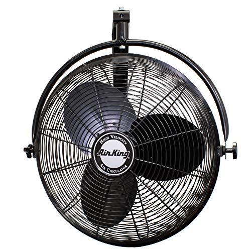 Air King 9020 1/6 HP Industrial Grade Wall Mount Fan, 20-Inch,Black