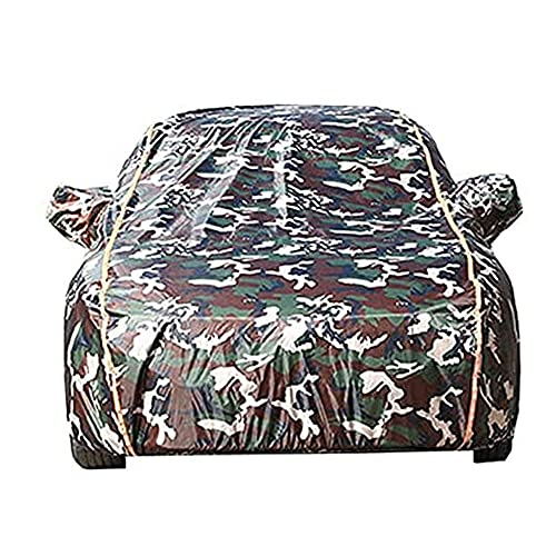 GPFFACAI Funda Coche Exterior cubierta de coche completo impermeable Compatible con BMW E30 / E36 / E46 / E92 / E93 / E39, con tira reflectante a prueba de polvo viento y nieve UV y calor9/9(Color:C,S