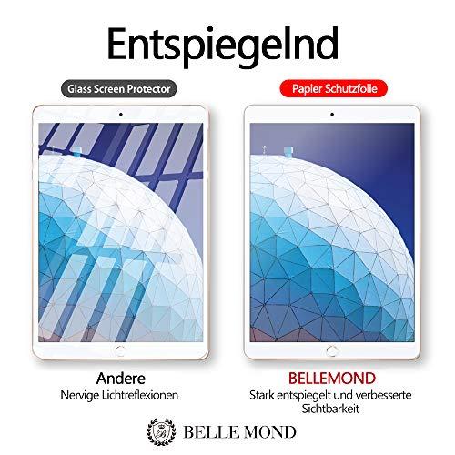 BELLEMOND 2 Stück Japanische Paper Feel Displayschutzfolie für iPad Air & Pro 10,5