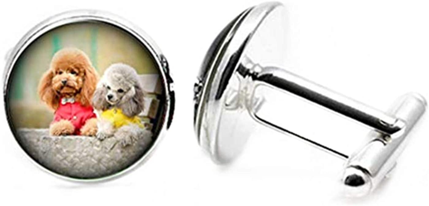 Fashion flowers Two Puppies Cufflinks C Souvenir Now Mail order cheap on sale Pet