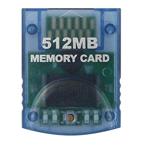 HDE Memory Card for Nintendo GameCube 512MB (8192 Blocks) for Nintendo GameCube or Wii Consoles (Clear)