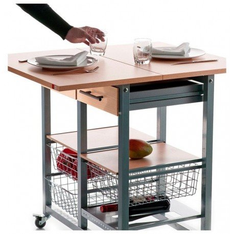 DON HIERRO - Mesa cocina plegable verdulero MILENIUM
