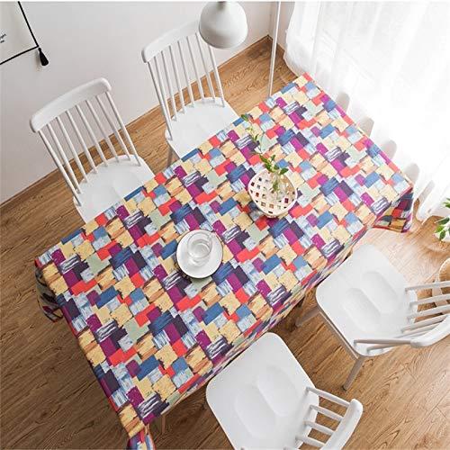 XXDD Mantel de cuadrícula a Cuadros Rectangular hogar café té Mantel Arte Escritorio paño Cocina Mantel A1 135x135cm