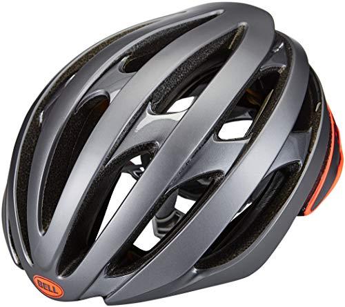 Bell Unisex– Erwachsene Stratus Mips Fahrradhelm Road, Matte/Gloss Gray/Infrared, S | 52-56cm