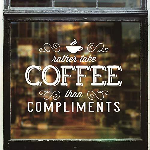Kaffee Zitate Wand Fenster Aufkleber Kaffeetasse Tee Haus Zeichen Vinyl Aufkleber Wohnkultur Storw Shop Logo Abnehmbare Kunstwand 57x76 cm