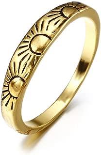 2019 New Fashion Women Alloy Sun Ring Wedding Party Women Jewelry Valentine's Day Gifts for Girlfriend Boyfriend