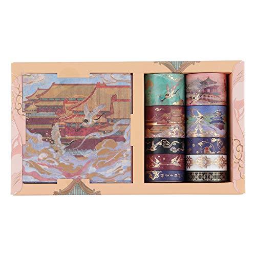 RisyPisy Cinta Washi Set, 10 Rollos Cinta Adhesiva Decorativa Y