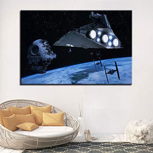 NIMCG Quadri su Tela Decorazioni per la casa Dipinti Stampe HD Film Death Star Poster Wall Art 20x30 cm (Senza Cornice)