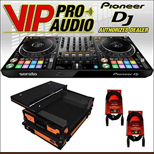 Find Discount Pioneer DDJ-1000SRT 4-Channel DJ controller + XS-DDJ1000WLTOB Case w/LED Kit + (2) XLR...