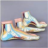 Modelo educativo Modelo anatómico médico del pie Modelo de pie de tamaño natural Representa el pie plano, el pie arqueado y el modelo normal del pie Músculo y esqueleto del pie Modelo médico del nervi