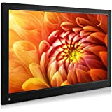 MRQ 15.6 Inch Digital Picture Frame Native 1080P Display Photos with Auto-Rotate, Background Music, Digital...