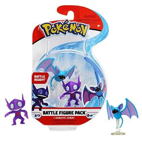 Giochi Preziosi- Pokemon Sableye e Zubat 2 Personaggi Statici, Multicolore, PKE09200