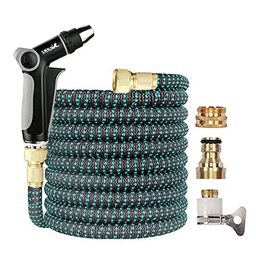 JSBAN Manguera de Agua de jardín Flexible expandible Pistola de Agua de Alta presión de Lavado de Coches de Alta presión Manguera 150 pies para regar Plantas Home Garden
