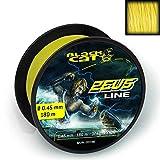 Black Cat Ø0,60mm 300m 59kg,130lbs Gelb Zeus Line-Hilo de Pescar (0,60 mm de diámetro, 300 m, 59 kg), Color Amarillo