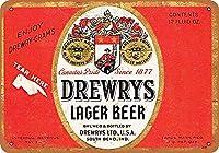 Drewrys Lager Beer 金属板ブリキ看板警告サイン注意サイン表示パネル情報サイン金属安全サイン