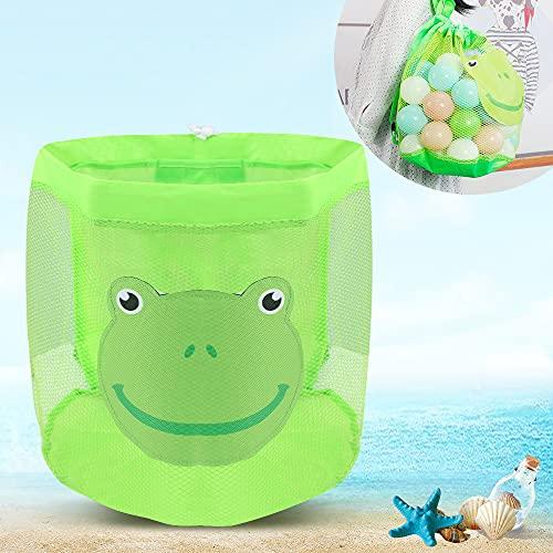 Rucksack Faltbar, Strandspielzeug Tasche, Tasche Kindermaschen Strandspielzeug,Tasche für Sandspielzeug Wasserspielzeug Rücksack Beutel für Junge Kinder