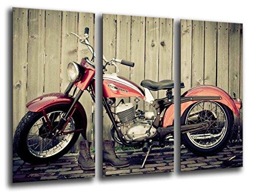 CUadros Camara Poster Fotográfico Moto Vintage, Harley Davidson Tamaño total: 97 x 62 cm XXL, Multicolor