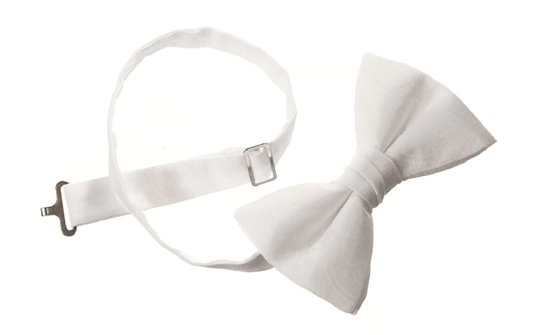 Boy 'sホワイトペイズリー蝶ネクタイの聖体、洗礼式&洗礼