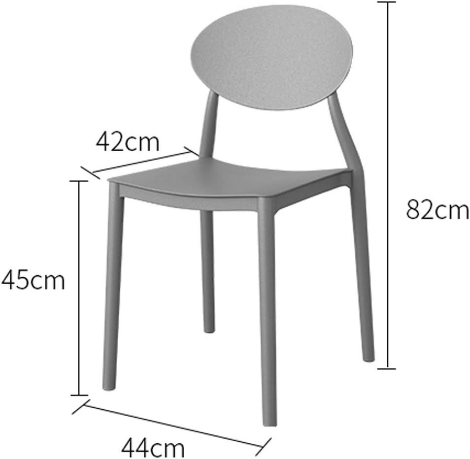 LF Chaise de Salle, Chaise de Bureau Simple, créative Dossier, Chaise Loisirs, Maison Adulte Chaise de Salle Simple (Color : Gray) Red