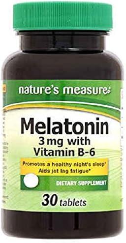 Popular San Francisco Mall standard Natures Measure Melatonin Count 30 Tablets