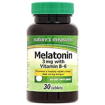 Natures Measure Melatonin Tablets 30 Count