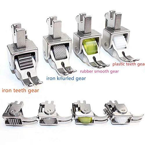 Verstelbare Heavy Duty Roller Voet voor Consew Brother Singer Naaimachine iron knurled gear