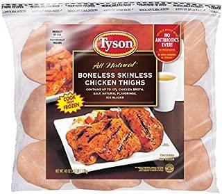 Tyson Boneless Skinless Chicken Thighs, 2.5 Pound (Frozen)